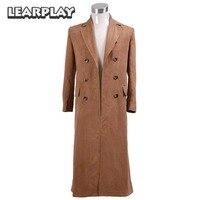 Doctor who Brown Trench Cosplay traje largo ante abrigo Halloween Navidad Outwear