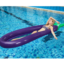 Giant Adult Pool Float Eggplant Inflatable Swimming Mattress for Summer Beach Lounger Inflatable Air Mattress Sleeping Water Bed цена