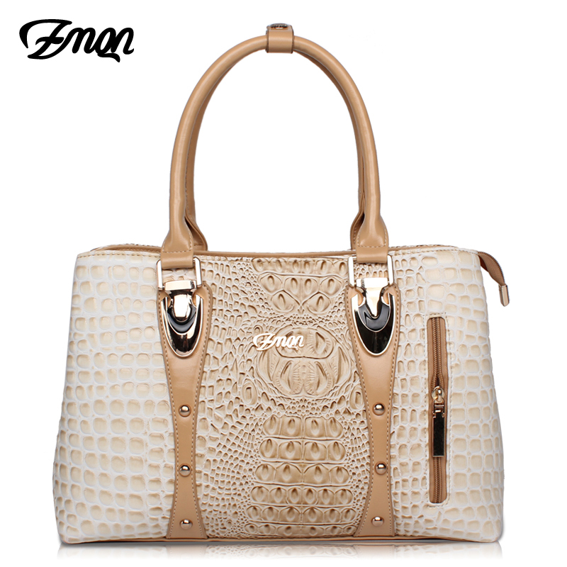 ZMQN Luxury Handbags Women Bags Designer Bags For Women 2018 Fashion Crocodile Leather Tote Bags Handbag Women Famous Brand A804 stylish golden metal splicing black frame sunglasses for women page 3
