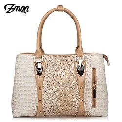 ZMQN Luxury Handbags Women Bags Designer Bags For Women 2018 Fashion Crocodile Leather Tote Bags Handbag Women Famous Brand A804