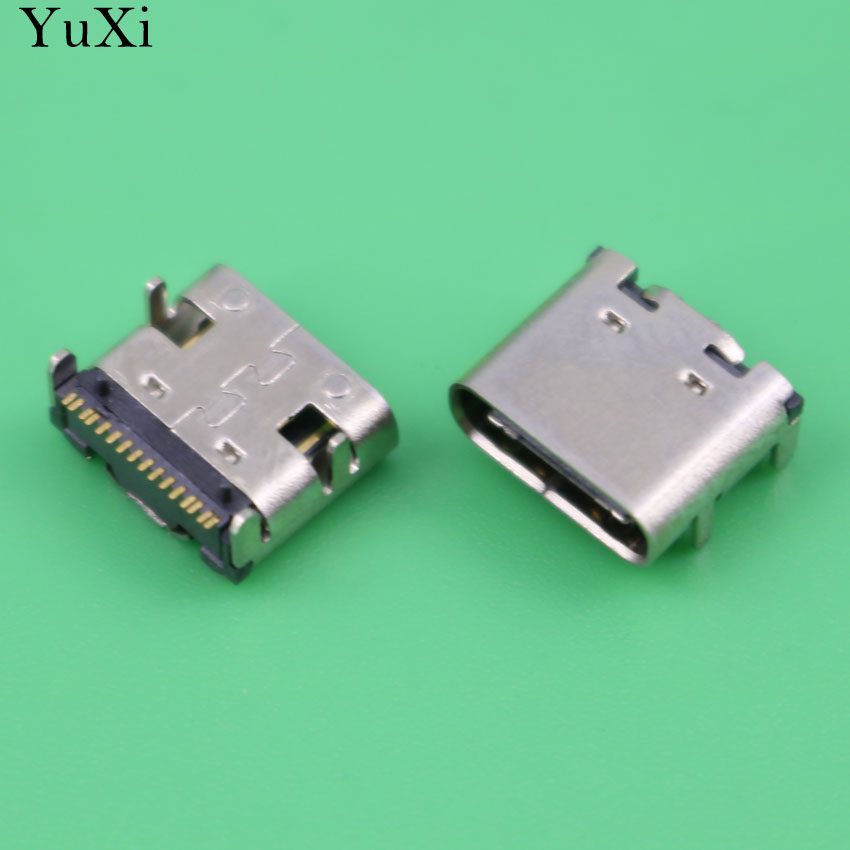 YuXi USB 3.1 Type-C 16pin Female Connector For Mobile Phone Charging Port Charging Socket Tow Feet Plug