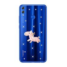 For Huawei Nova 3i P20 lite Honor 9 8C 7C 7A Pro Android 8.1 For Huawei Honor 8X 7X Phone case zebra Pattern clear back cover(China)