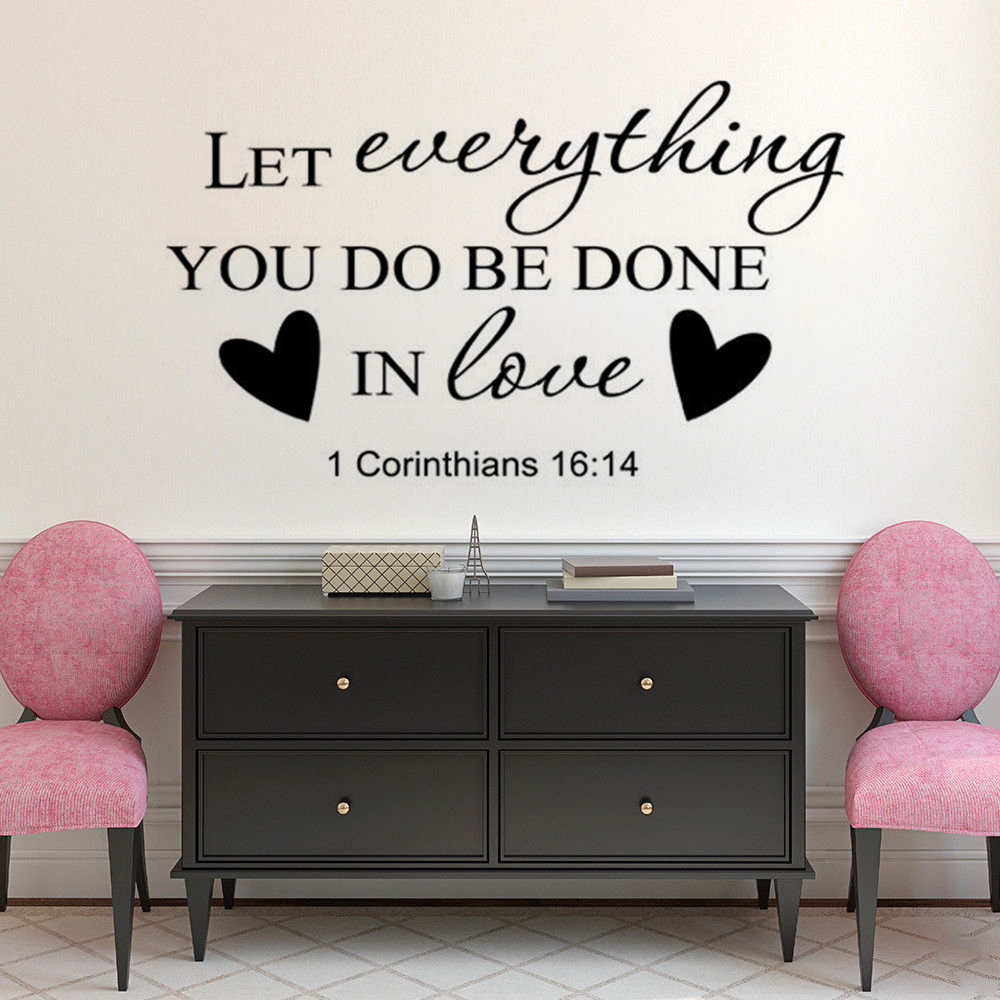 Religious Home Decor Bible Verse Wall Stickers Removable