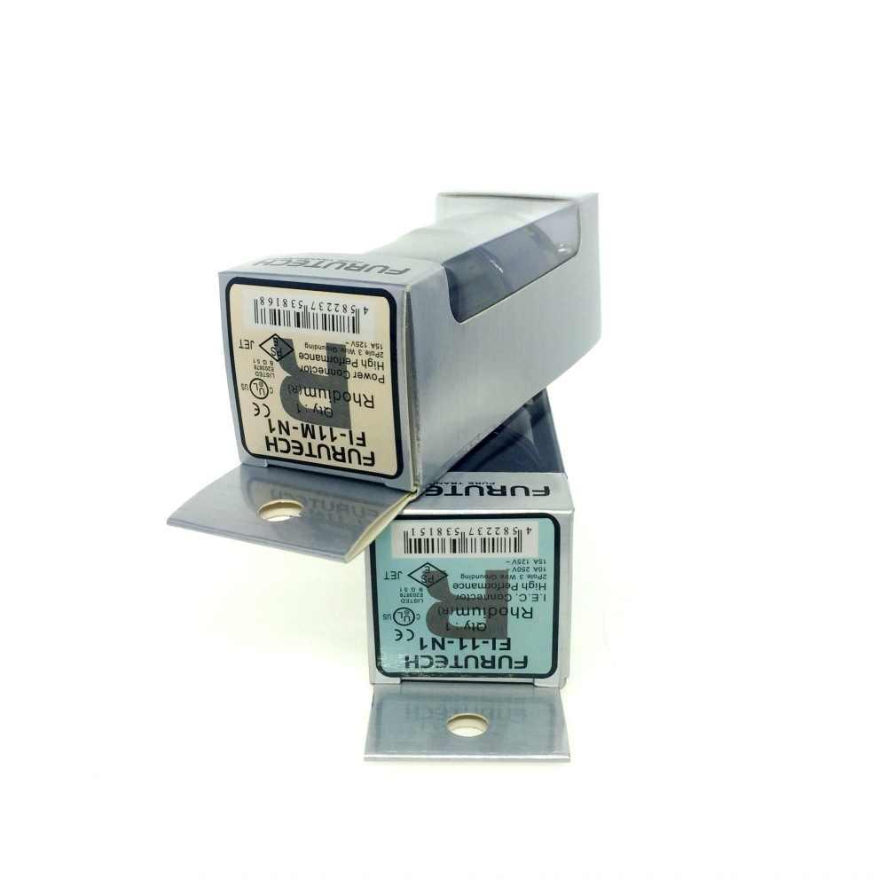 FURUTECH FI-E11-N1(R) / FI-11-N1 (R) ปลั๊กไฟโรเดียม end SCHUKO IEC 15A/125V 16A/ 250V MATIHUR