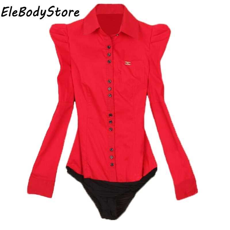 8ceb50001d6 ... 2018 блуза боди рубашка женские блузки топы рубашки с рукавом женский  модный боди официальный плюс размер ...