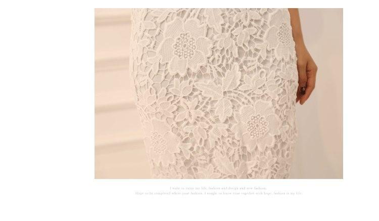High Waist Floral Lace Skirt