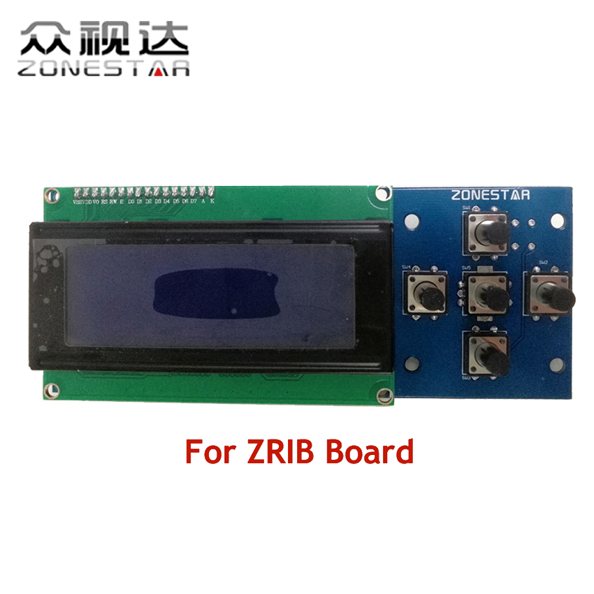 2004 LCD display and 5 KEYS KEYPAD ZRIB board RepRap 3D Printer kit Mendel Prusa i3 5 KEYS ZONESTAR P802N P802Q D807A
