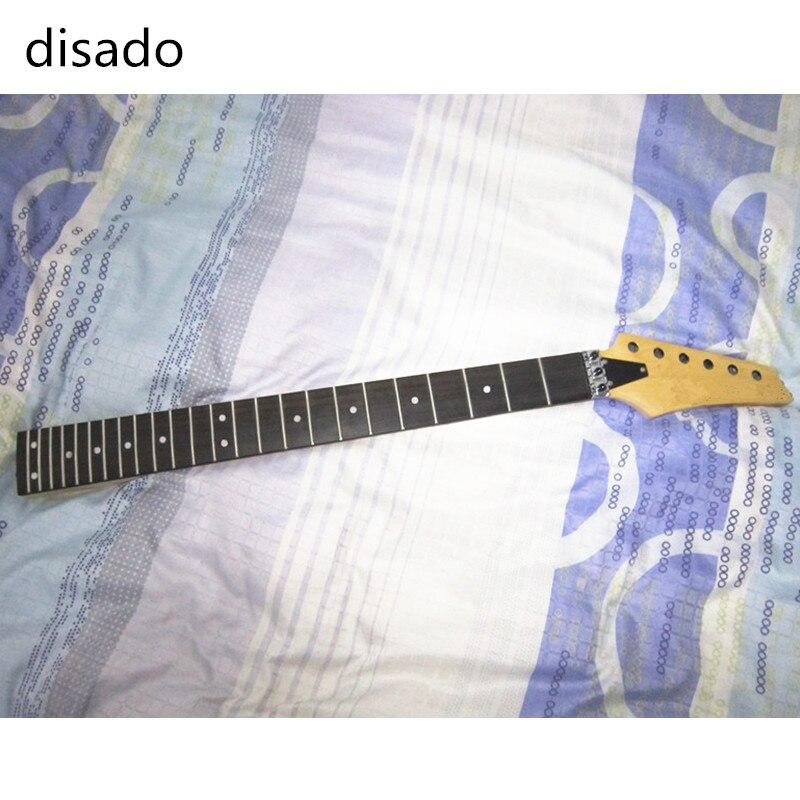 Disado 24 frettes incrustées de points guitare électrique manche érable + cordes guitare serrure accessoires guitare pièces instruments de musique