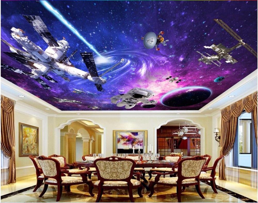 WDBH Custom 3d Ceiling Murals Wallpaper Universe Star Space