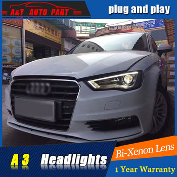 new front light car Styling LED Head Lamp for AUDI A3 led headlights 2013-2016 FOR AUDI A3 H7 hid Bi-Xenon Lens low beam