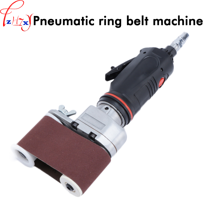 1pc Pneumatic circular sand belt machine rust - removing sand polishing machine pneumatic belt sander