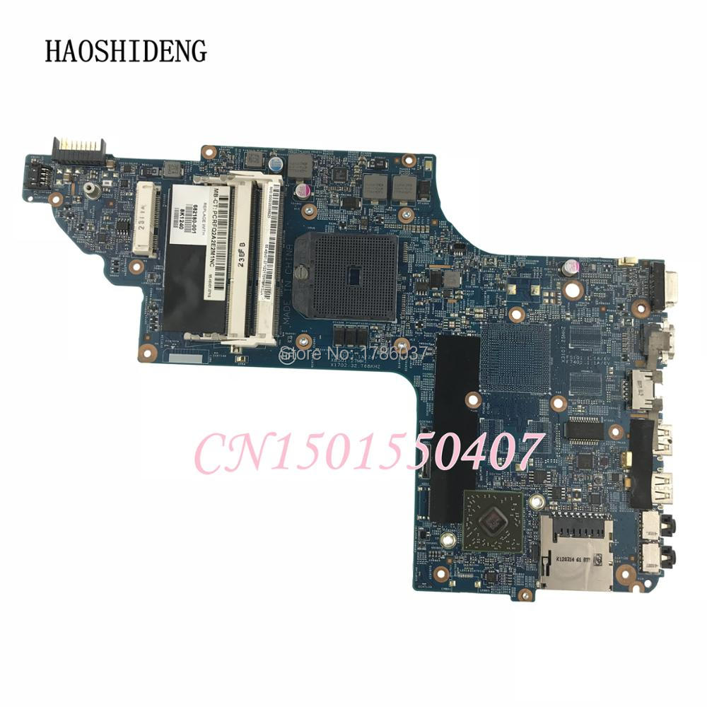 HAOSHIDENG 682180-501 682180-001 For HP pavilion DV6 DV6-7000 DV6-7200 series Laptop Motherboard,All functions fully Tested! sheli laptop motherboard for hp dv6 dv6 7000 682180 001 48 4sv01 021 for amd cpu with integrated graphics card