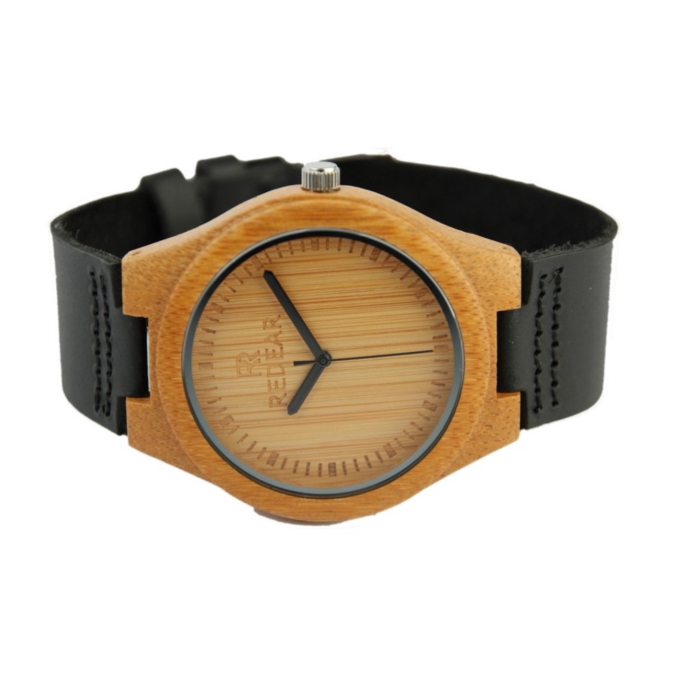 Redear Top Brand Luxury Men Women Watches Casual Wooden Wooden Quartz Watch Genuine Leather Band Wristwatches Japan Movement