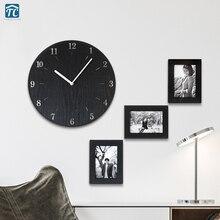 Creative Minimalist Wall Clock Simple Modern Fashion Bedroom Quiet Pastoral Quartz Watch Large Living Room Wall