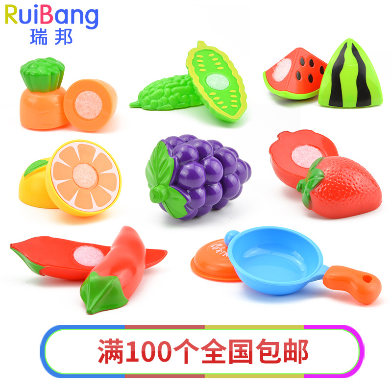 2018 Kitchen Play Toys Cut Fruit Toys Childrens Toys Gifts for Children