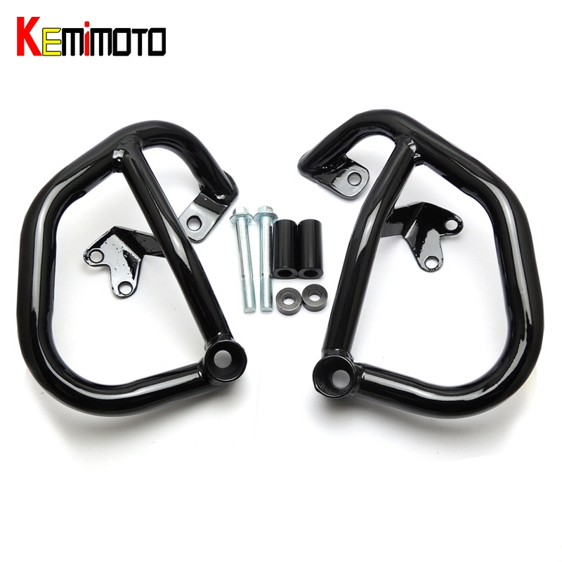 KEMiMOTO MT07 MT 07 Motorcycle Crash Bar Carsh Guard Cover Stainless Steel for Yamaha MT-07 FZ-07 2014 2015 2016 100% Brand New