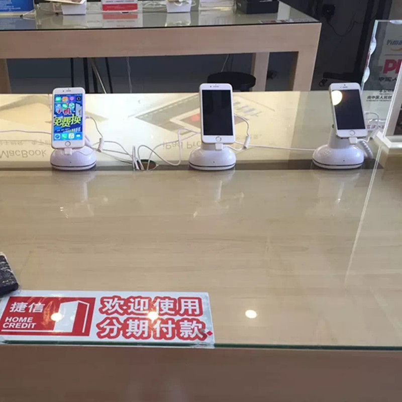 6 set /pack DHL shipping mobile phone retail anti theft alarm charging function secure display stand 5 set lot cell phone security anti theft display stand with alarm and charging function for mobile phone retail store exhibition