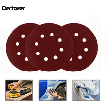 20pcs 125mm 5 inch Round flocking self-adhesive Sandpaper Eight Hole Disk Sand Sheets Grit 60~3000 Hook Loop Sanding Disc Polish цена 2017