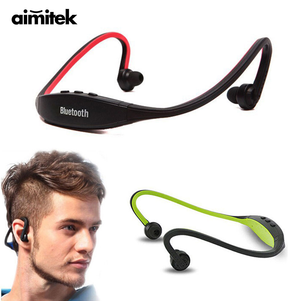 Aimitek Sport Bluetooth Headset Neckband Stereo Wireless Earphone Handsfree Headphones with Mic for iPhone Samsung Xiaomi Huawei lymoc wireless sport headset running bluetooth earphone ipx4 waterproof stereo headphones handsfree for iphone xiaomi samsung