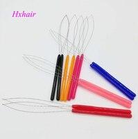 Шт. Оптовая продажа-10 шт. пластиковая ручка Threader обручи потянув микро кольца со звеньями/петля для наращивания волос Инструменты
