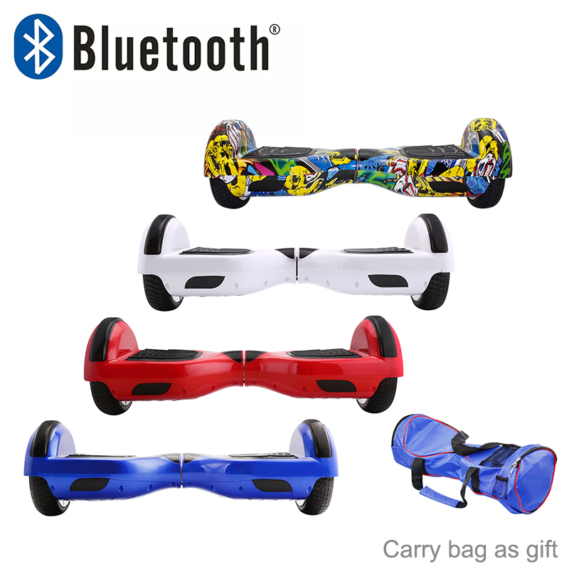 Hoverboards Bluetooth 6 5 Self Balancing Kick Scooter Electric Skateboard Oxboard Overboard Mini Skywalker Unicycle Two