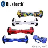 Hoverboards Bluetooth 6.5 ''Kick scooter eléctrico auto equilibrio monociclo Dos Ruedas patineta oxboard borda mini skywalker