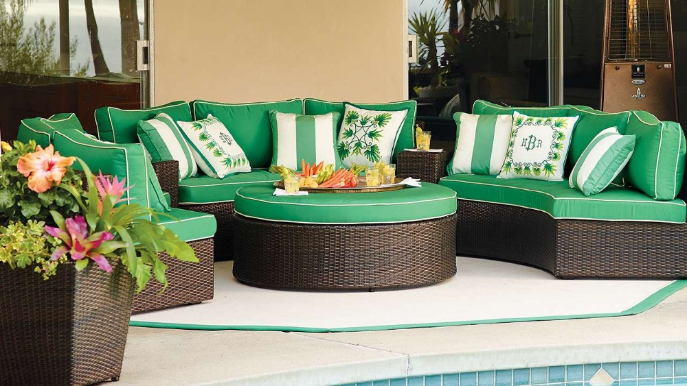 2017 New Arrival all weather bali synthetic rattan outdoor round sofa furniture