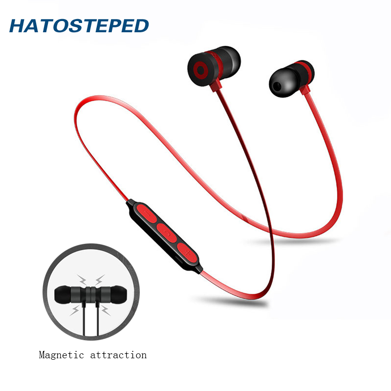 цена на Metal Sports Earphone Bluetooth Headphone Sweat Proof Magnetic Earpiece Stereo Wireless Headset for Mobile Phone for iphone