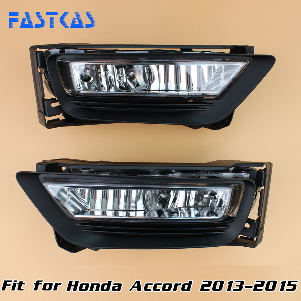 12v 55W Car Fog Light Assembly for Honda Accord 2013 2014 2015 Front Fog Light Lamp with Harness Relay Fog Light 12v 55w car fog light assembly for ford focus hatchback 2009 2010 2011 front fog light lamp with harness relay fog light