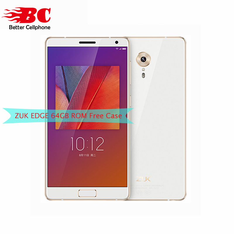 Original New Lenovo ZUK Edge Mobile Phone Snapdragon 821 Quad Core 2.35GHz 4G RAM 64G ROM 1920X1080P 5.5inch 13.0MP 4G LTE phone