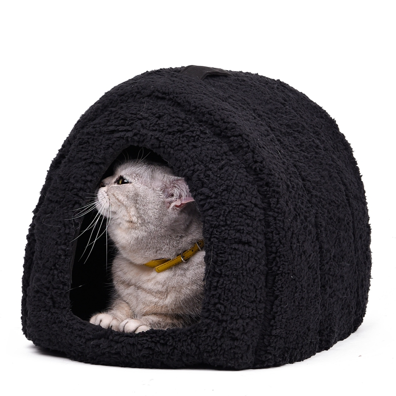 Lovely Pet House met een strik Dog Kennel Puppy en Cat Beds gebogen vorm Makkelijk te wassen Gemakkelijk om Puppy Dog te nemen Cat Living 4 Colors
