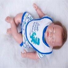20 inch 50 cm Silicone baby reborn dolls, lifelike doll reborn Blue saliva towel sleeping doll