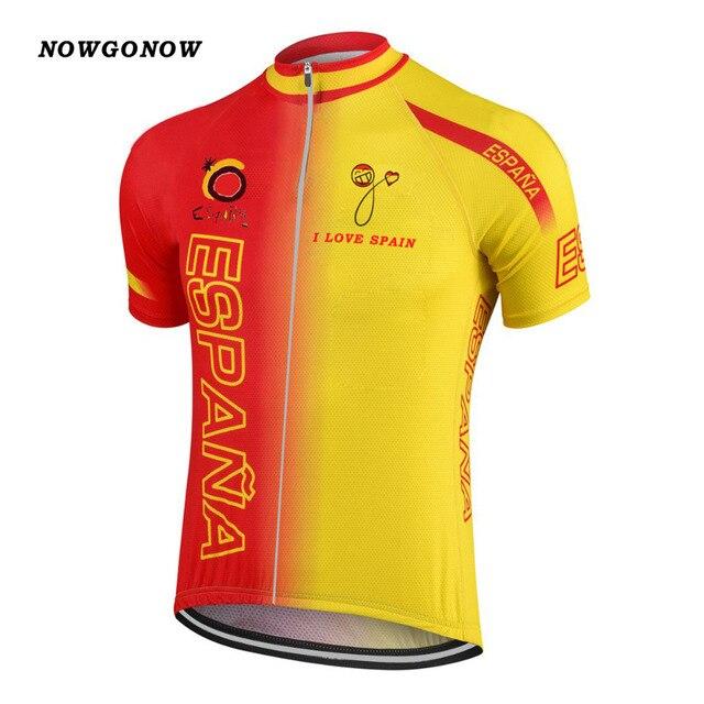 NOVO 2017 ESPANHA ESPANA Equipe Bicicleta Estrada Montanha Clássica Camisa  de Ciclismo Roupa do Desgaste b21122ead3caa