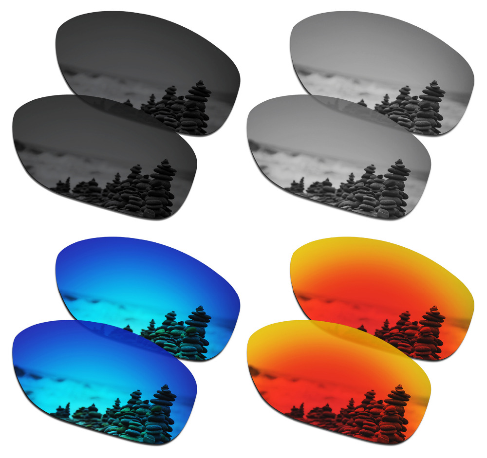 SmartVLT 4 Pairs Polarized Sunglasses Replacement Lenses for Oakley She's Unstoppable - 4 Colors