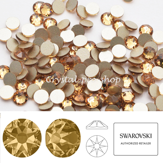 New 2019-20 Light Colorado Topaz (246) Swarovski Elements ss14 ( 3.5-3.6  )mm ( No-Hotfix ) Flatback Crystal Rhinestones d30e05358e1c