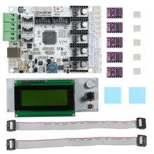3D Материнская Плата Принтера GT2560 + DRV8825 Драйвер + LCD2004 Комплект 3D Принтер Частей и Аксессуаров Прочный