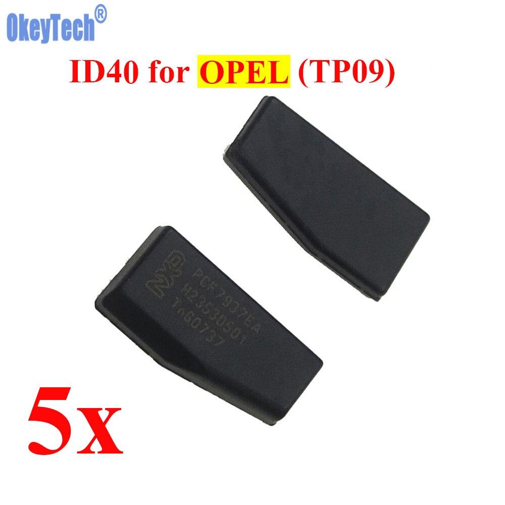 Okeytech 5 шт./лот чип ключи от машины ID40 чип для Opel Авто чипа Филипп-S crypto углерода ID40 транспондера чип TP09