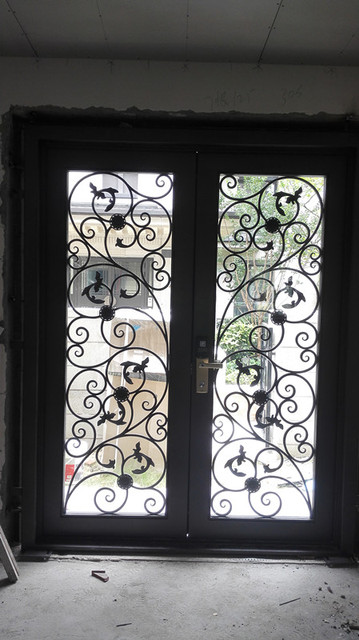 Aliexpress Buy Wrought Iron Doors Iron Double Doors Iron Front