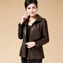Big Size Women Sheepskin Genuine Leather Jackets For Fall Casacos Manteau Femme Fashion Outwear Spring Coats A2798