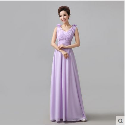 6743e141c4 US $23.78 18% OFF|vestidos madrinha 2019 new chiffon a line Light Purple  Champagne abiti da cerimonia donna lungo plus size dresses under $50 -in ...