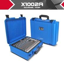 Xtuga mezclador de la consola de Sonido de audio Portátil integrado amplificador de Potencia de 300 W * 2 48 V alimentación phantom de 16 tipos de digital ECO party DJ