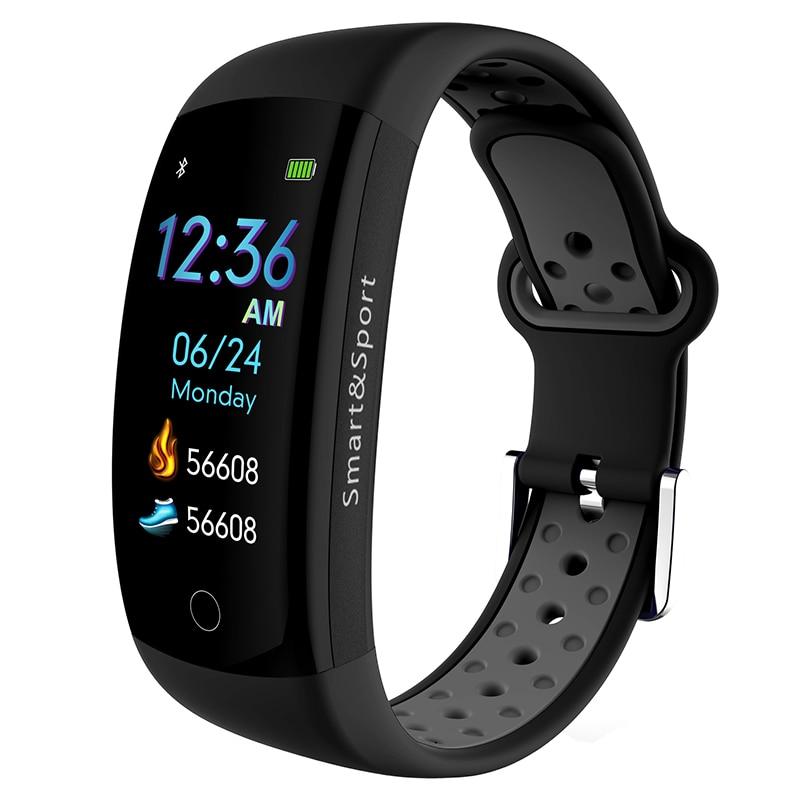 Q6S Smartband Couleurs 3D dynamique Coeur de La Pression Artérielle Moniteur de Fréquence Intelligent Bracelet Bracelet Étanche Sport Fitness Montre Bande