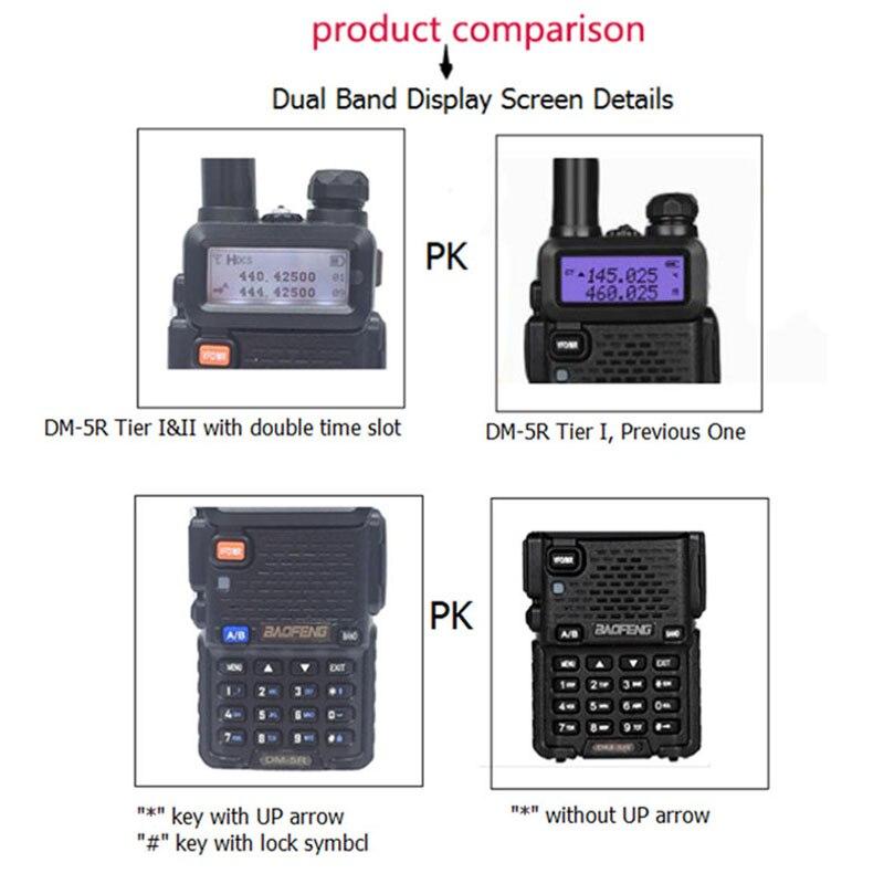 band digital 2 PCS Baofeng DM-5R Digital Walkie Talkie Ham CB VHF UHF DMR Radio Station Double Dual Band Transceiver Boafeng Scanner Amador (2)