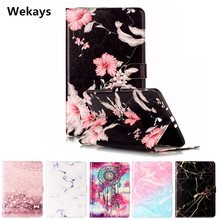 Wekays Tablet Case For Samsung Galaxy Tab A A6 10.1 2016 SM-T580 T580N T585 Cover Flip PU Leather Stand Kickstand Case Windbell cowboy pattern case for samsung galaxy tab a a6 10 1 2016 t580 t585 sm t580 t580n case cover funda tablet stand protective shell