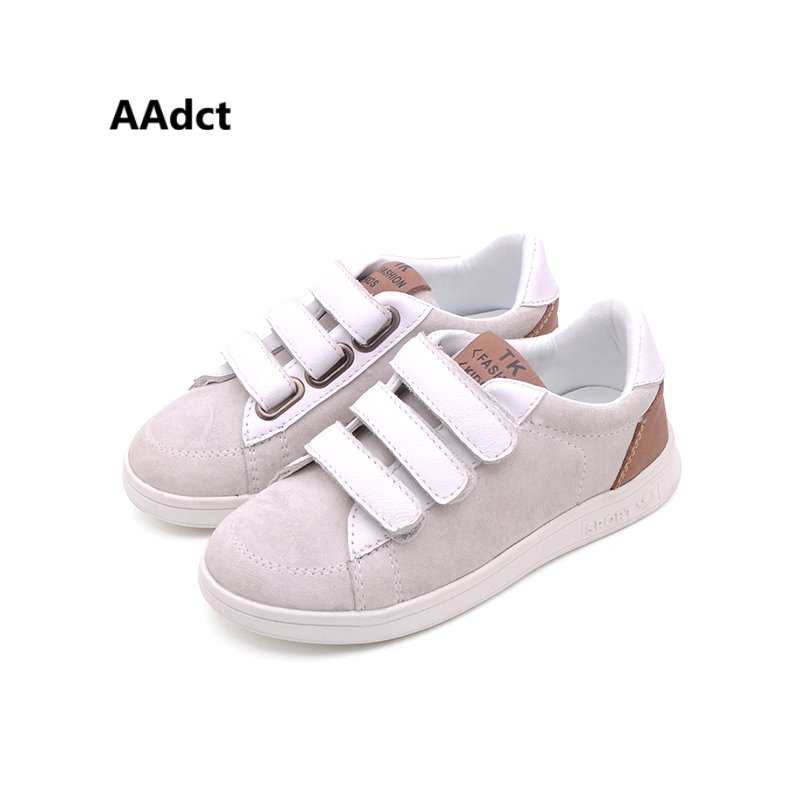 AAdct 2018 Genuine leather children casual shoes sports boys shoes sneakers running Brand kids shoes for girls High-quality 2017uovo fall children shoes boys and girls sneakers 3 hooks and kids shoes high quality sports running shoes for kids
