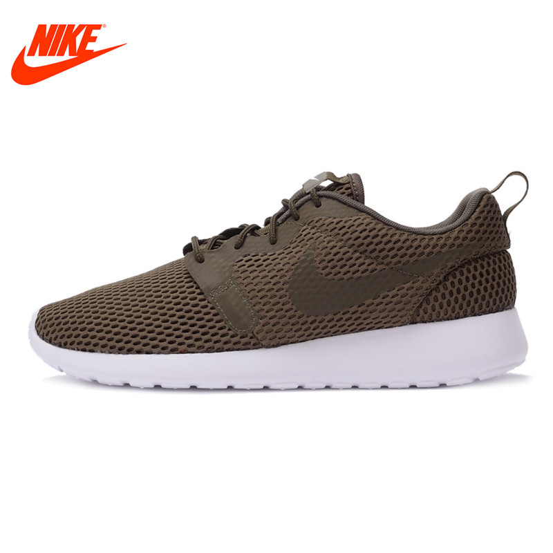 Original NIKE Mesh Breathable ROSHE ONE HYP BR Men's Running Shoes Sneakers Outdoor Walking Jogging Sneakers Comfortable Fast original nike roshe one hyp br women s running shoes sneakers