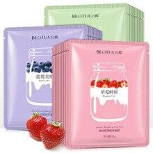 BEOTUA Plant Extract Moisturizing Face Sheet Mask Oil Control Brighten Skin Care Anti Aging Acne Fruit Unisex Whole Face Mask