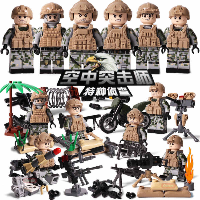 hot batisbricks modern military SWAT city Police figures