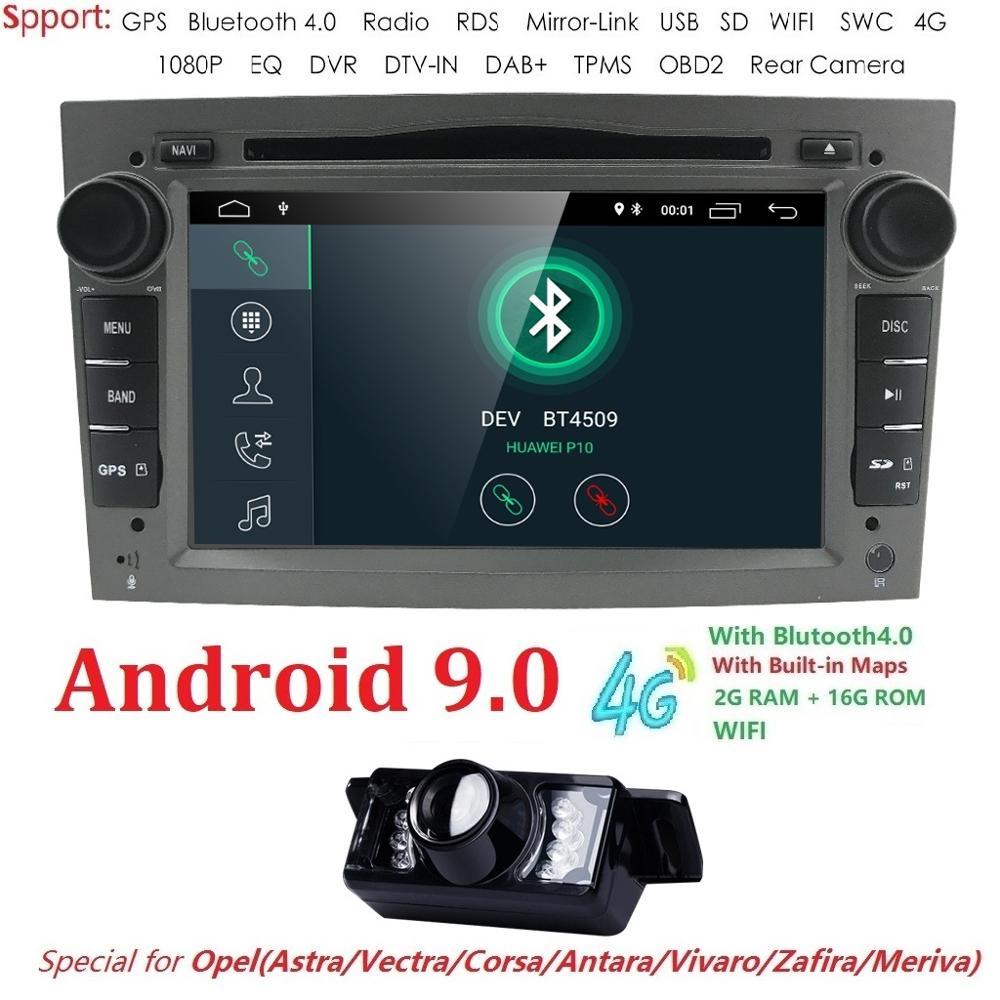 Android 9 0 Quad Core Car Radio Multimedia Player 16GB 2GB for Opel Astra Corsa Zafira