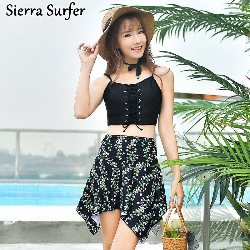 Swimming Suit For Women Beach Wear Woman Swimwear Plus Size Cheap Sexy Bathing Suits 2018 March New Swimsuit Skirt Three Piece cheap sexy bathing suits swim suit one piece plus size swimwear womens wear 2017 new korean lovely woman lace triangle badpak